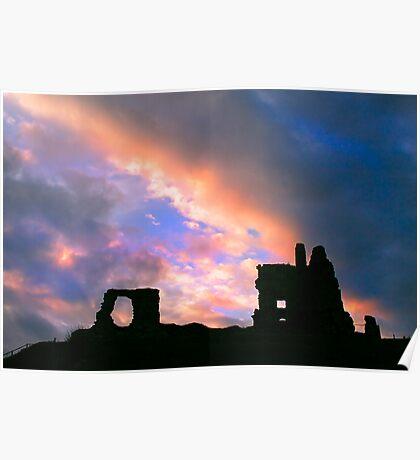 clouds over Newark Castle Poster