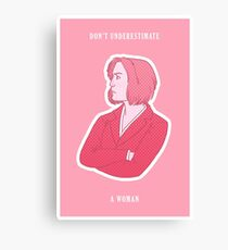 Feminist Scully Canvas Print