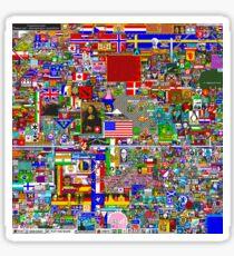 /r/Place Large 8k Resolution Poster - Final Version Sticker