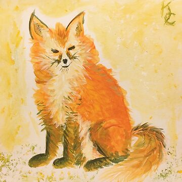 Bushy Watercolor Fox by IridescentEye