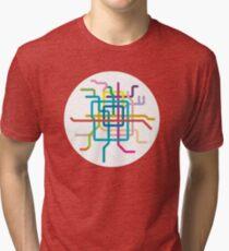 Mini Metros - Beijing, China Tri-blend T-Shirt