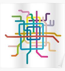 Mini Metros - Beijing, China Poster