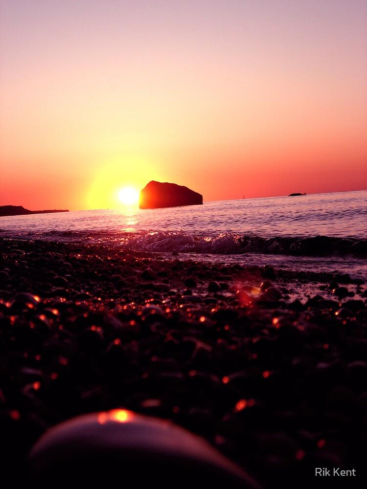 Sun Spots On The Rocks by Rik Kent