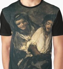 Francisco De Goya Y Lucientes - Mujeres Riendo Women Laughing Graphic T-Shirt