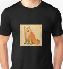 Bushy Watercolor Fox Unisex T-Shirt