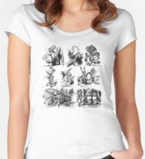 Alice in Wonderland Women's Fitted Scoop T-Shirt