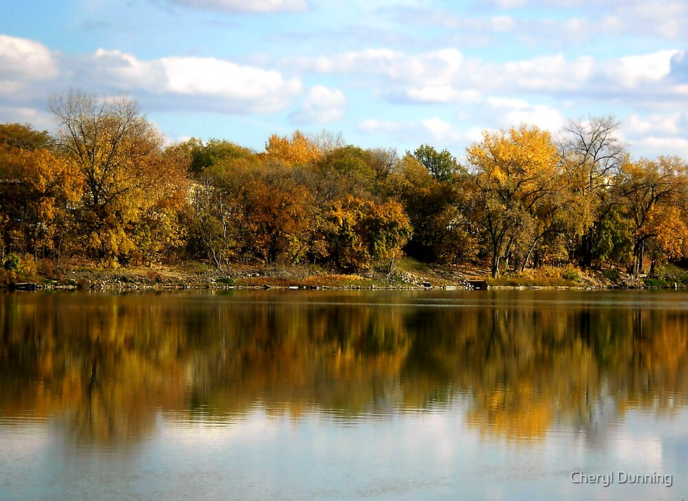 autumn reflection by Cheryl Dunning