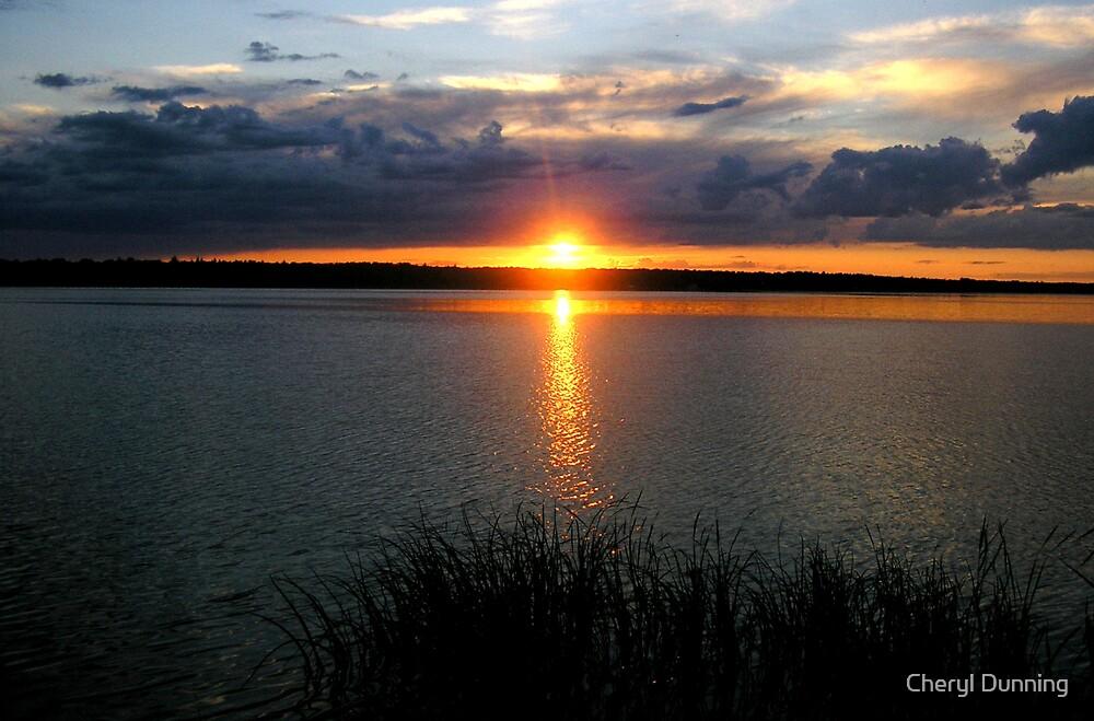 manipogo sunset by Cheryl Dunning