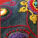 Embroidery art by Lynn Excell
