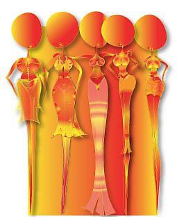 Orange Women by Aissata
