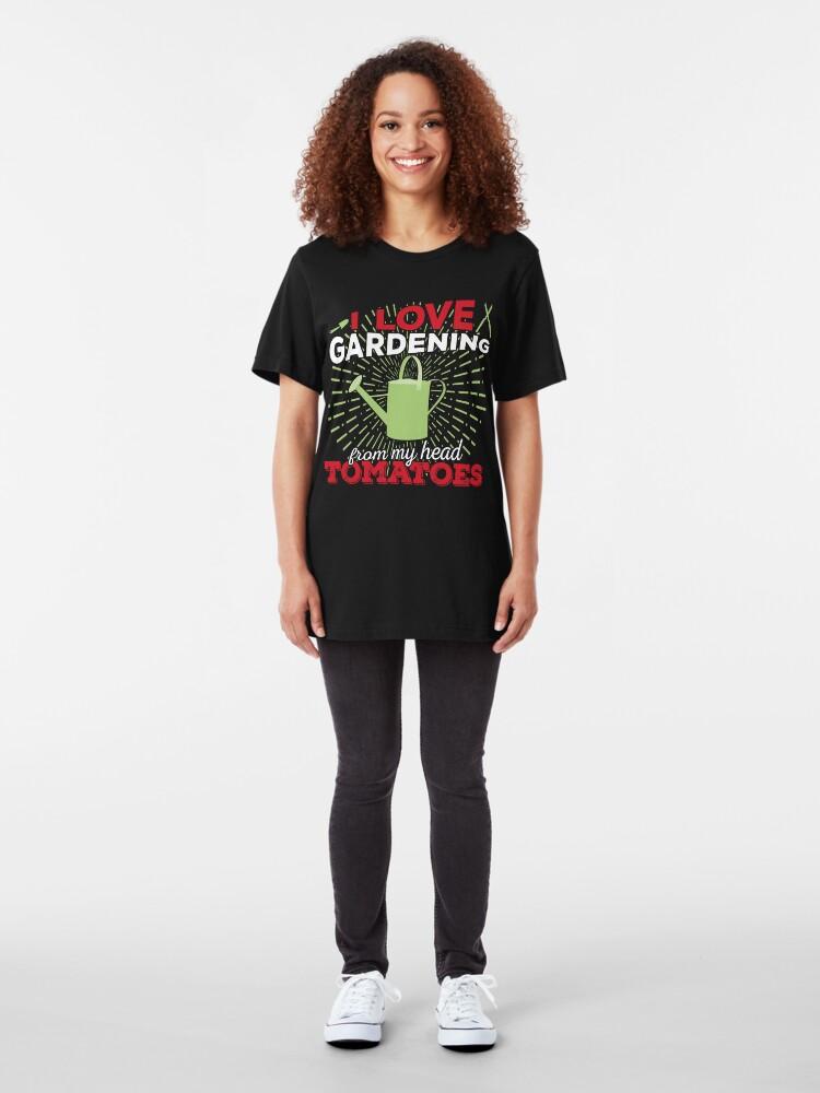Alternative Ansicht von I love gardening from my head tomatoes Slim Fit T-Shirt