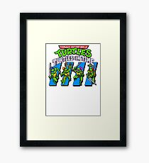 TMNT Turtles in Time Framed Print