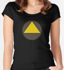 Legion Yellow Triangle Circle David Haller Women's Fitted Scoop T-Shirt