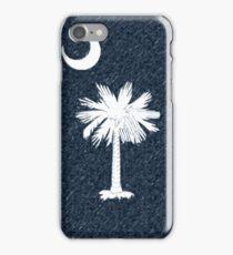 Colored Sketch South Carolina Flag iPhone Case/Skin