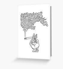 Catfish Cigarette by John Howard Greeting Card