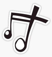 Music Song Symbol Musical Note - White Sticker