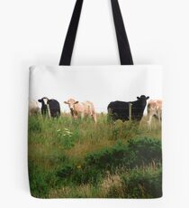 Curious Cows, Inch Island, Donegal, Ireland Tote Bag