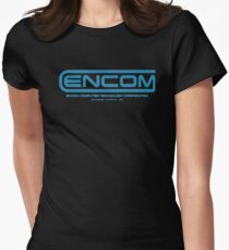 TRON - ENCOM Summer sky Womens Fitted T-Shirt