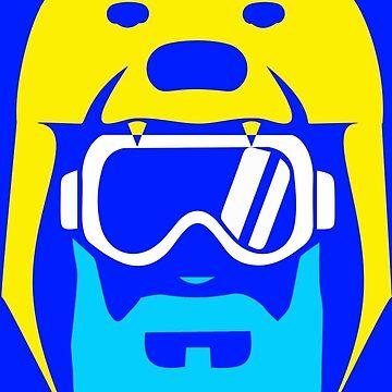 KC Royals: Duff's Bear Suit by SkipHarvey