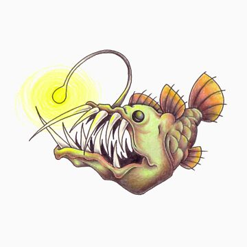 deep sea angler fish by sterry