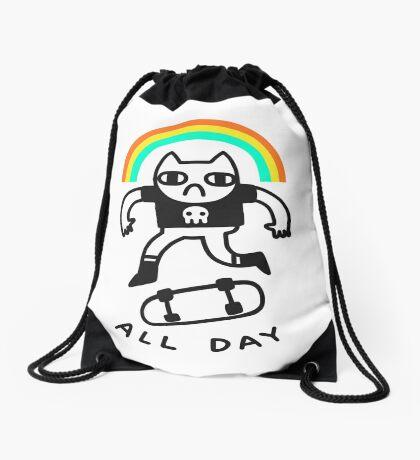 Sick Kick Flips Drawstring Bag