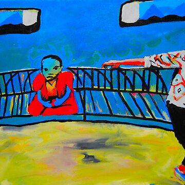 Budda on a bench 2 by MrBrett