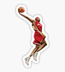 Lebron James Kunstwerk Aufkleber Sticker