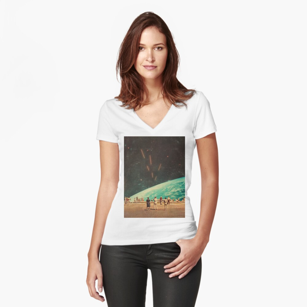 The Others Fitted V-Neck T-Shirt
