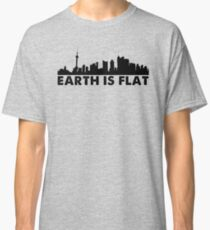 Earth is Flat - Cityscape Classic T-Shirt