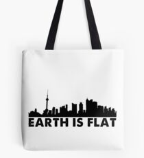 Earth is Flat - Cityscape Tote Bag