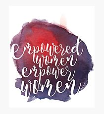 watercolor empowered women. Photographic Print