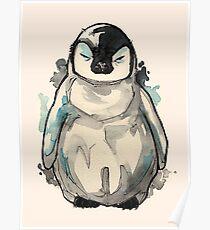 Grumpy Baby Penguin  Poster