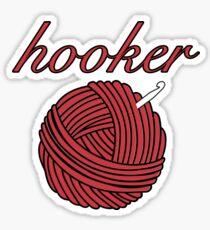 Hooker of Crochet Sticker