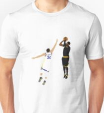 Kyrie Irving Clutch Shot Over Stephen Curry Unisex T-Shirt