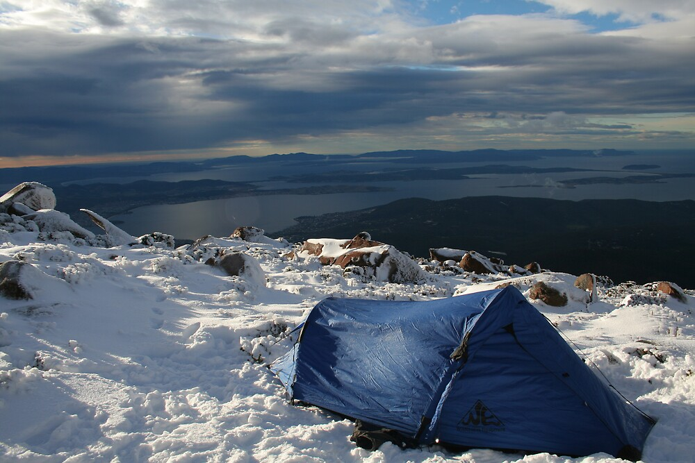 Mt Wellington snow camping by anobleperson