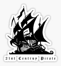 21st Century Pirate Sticker