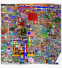 "Final Frame of Reddit ""Place"" Pixel Board /r/place *LARGE* Poster"