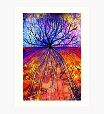 Marbled Layers - Tree Art Print