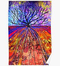 Marbled Layers - Tree Poster