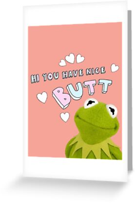 Kermit the frog compliment greeting cards by glitter bootyque kermit the frog compliment by glitter bootyque m4hsunfo