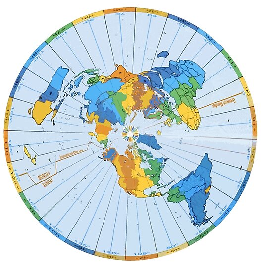 Flat Earth Designs Flat Earth Map Excellent Colors Posters By