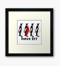 Penguin Dance Off Framed Print