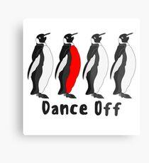 Penguin Dance Off Metal Print