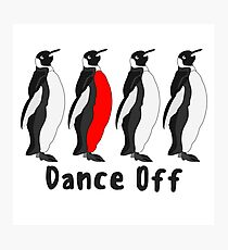 Penguin Dance Off Photographic Print