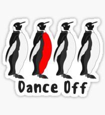 Penguin Dance Off Sticker