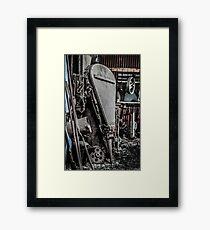 The Blacksmiths Bellows. Zeehan Framed Print