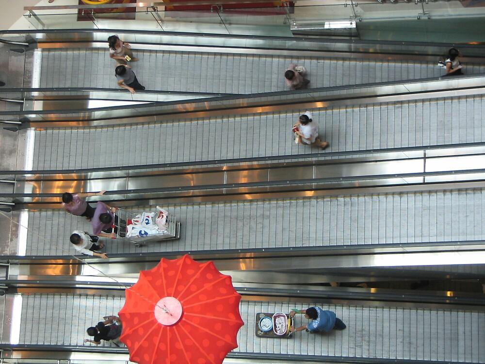 Escalator Shopping  by JacTaylor