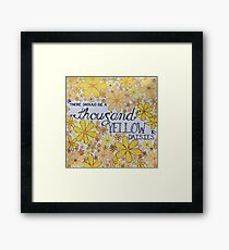 A Thousand Yellow Daisies  Framed Print