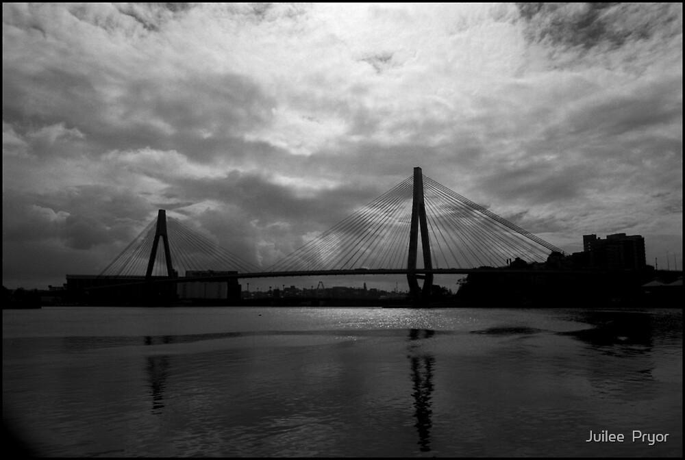 Urban Landscape # 10 Glebe Island Bridge  by Juilee  Pryor