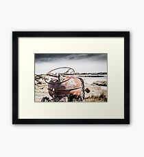 Fordson Tractor Couta Rocks, Tasmania  Framed Print